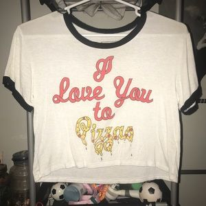Pizza Crop Top by Young Romantics